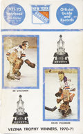 Hockey Collectibles:Others, 1971-72 New York Rangers Yearbook Signed by 21....
