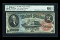 Large Size:Legal Tender Notes, Fr. 42 $2 1869 Legal Tender PMG Gem Uncirculated 66 EPQ....