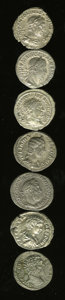Ancients:Ancient Lots  , Ancients: Lot of seven Roman Imperial AR denarii.... (Total: 7 coins)