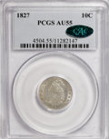 Bust Dimes: , 1827 10C AU55 PCGS. CAC. PCGS Population (12/160). NGC Census:(14/179). Mintage: 1,300,000. Numismedia Wsl. Price for NGC/...