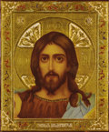 Fine Art - Painting, Russian:Modern (1900-1949), A RUSSIAN ICON OF CHRIST. 19th century. 10-1/2 x 9 inches (26.7 x22.9 cm). ...