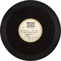 Music Memorabilia:Recordings, Bob Dylan Acetate w/Song Sheet (MPHC Reference Recording, 1963)....