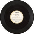 "Music Memorabilia:Recordings, Bob Dylan ""Quit Your Low Down Ways"" Acetate (MPHC ReferenceRecording, 1963)...."