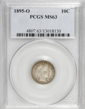Barber Dimes: , 1895-O 10C MS63 PCGS. PCGS Population (7/17). NGC Census: (4/17). Mintage: 440,000. Numismedia Wsl. Price for NGC/PCGS coin...