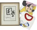 Movie/TV Memorabilia:Memorabilia, Disney Photo to Howard Hein (1955).... (Total: 3 Items)