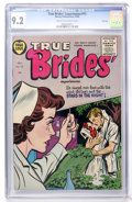 Golden Age (1938-1955):Romance, True Brides' Experiences #15 File Copy (Harvey, 1955) CGC NM- 9.2Cream to off-white pages....