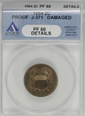 Patterns, 1864 2C Two Cents, Judd-371, Pollock-440, Low R.6--Damaged--ANACS.PR60 Details....