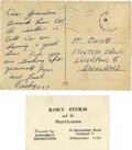 Music Memorabilia:Autographs and Signed Items, Beatles Related - Ringo Starr Handwritten Postcard to His Grandmother.... (Total: 2 Items)