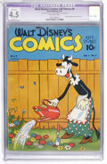 Golden Age (1938-1955):Cartoon Character, Walt Disney's Comics and Stories #8 (Dell, 1941) CGC Apparent VG+4.5 Slight (P) Off-white pages....