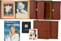 Movie/TV Memorabilia:Memorabilia, Marilyn Monroe Limited Edition Book Set by Andre de Dienes andScrapbooks.... (Total: 8 Items)