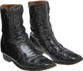 Music Memorabilia:Costumes, Elvis Presley's Black Patent Leather Stage Boots.... (Total: 2 Items)