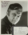 Movie/TV Memorabilia:Autographs and Signed Items, Claude Rains Signed Photo....