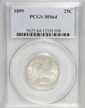 Barber Quarters: , 1899 25C MS64 PCGS. PCGS Population (48/32). NGC Census: (65/27). Mintage: 12,624,846. Numismedia Wsl. Price for NGC/PCGS c...