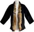 Movie/TV Memorabilia:Costumes, Bruce Lee's Fur-Lined Silk Jacket....