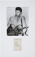 Music Memorabilia:Autographs and Signed Items, Eddie Cochran Autograph with Photo....