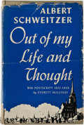 Books:Signed Editions, Albert Schweitzer. Out of My Life & Thought. An Autobiography. New York: Henry Holt and Company, 1933.. ... (Total: 3 Items)