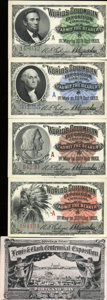 Expositions and Fairs, Tickets to the World's Columbian Exposition and Lewis and ClarkCentennial Exposition.... (Total: 5 items)