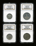Expositions and Fairs, Quartet of Certified, Assorted Exposition Medals.... (Total: 4pieces)