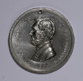 U.S. Presidents & Statesmen, Duo of 1864 Lincoln and Johnson Campaign Medals.... (Total: 2medals)