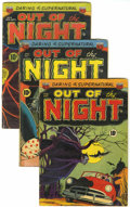 Golden Age (1938-1955):Horror, Out of the Night Group (ACG, 1952) Condition: Average GD+....(Total: 3 Comic Books)