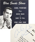 Music Memorabilia:Recordings, Carl Perkins Signed Blue Suede Shoes EP (Sun 19, 1958)....