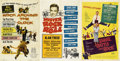 Music Memorabilia:Posters, Alan Freed Movie Posters.... (Total: 3 Items)
