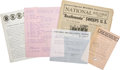 Music Memorabilia:Memorabilia, Beatles Lot of Five Items Including Call Sheet and Press Releasefor February 9, 1964, Ed Sullivan Show.... (Total: 5 Items)