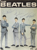 Music Memorabilia:Autographs and Signed Items, Beatles 1965 Memorabilia Lot with Autographs from Set ofHelp!... (Total: 15 Items)