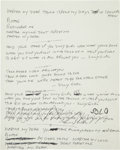 "Music Memorabilia:Autographs and Signed Items, Beatles Related - Mal Evans ""Martha My Dear"" Handwritten Lyrics...."