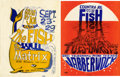 Music Memorabilia:Posters, Country Joe and the Fish Handbill Group of 2 (1966).... (Total: 2Items)