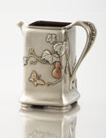 Silver Holloware, American:Creamers and Sugars, AN AMERICAN SILVER AND MIXED METAL CREAM PITCHER. Tiffany &Co., New York, New York, circa 1877. Marks: TIFFANY & CO.,504...