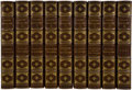 Books:Fiction, Edgar Allan Poe. The Works of Edgar Allan Poe. New York:Charles Scribner's Sons, [1894-1895]. Full purple leather w...(Total: 9 Items)