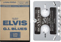 Music Memorabilia:Recordings, Elvis Presley G. I. Blues Cartridge Magazine Loading (RCA3130, 1960s)....