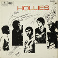 Music Memorabilia:Autographs and Signed Items, The Hollies Band Signed Album....