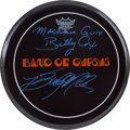 Music Memorabilia:Autographs and Signed Items, Band of Gypsys Signed Drum Head....