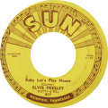 "Music Memorabilia:Recordings, Elvis Presley ""Baby Let's Play House"" 45 (Sun 217, 1955)...."