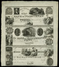 Obsoletes By State:Michigan, Ann Arbor, MI- The Bank of Washtenaw $20-$50-Post Note G18-G20-UNL Lee 13-14-15 Uncut Sheet. ...
