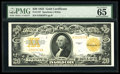 Large Size:Gold Certificates, Fr. 1187 $20 1922 Mule Gold Certificate PMG Gem Uncirculated 65 EPQ....