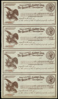 Obsoletes By State:Nevada, Carson City, NV- The Carson City Savings Bank Uncut Sheet of Four Certificate of Deposits. ...