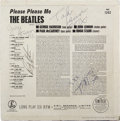 Music Memorabilia:Autographs and Signed Items, The Beatles Band-Signed Please Please Me Album Cover....