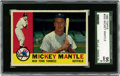 Baseball Cards:Singles (1960-1969), 1960 Topps Mickey Mantle #350 SGC 96 Mint 9....