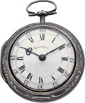 Timepieces:Pocket (pre 1900) , James Smith London Verge Fusee with Repoussé Case, circa 1767. ...
