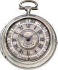 Timepieces:Pocket (pre 1900) , Thomas Pinfold, Middleton Cheney Early Verge Pocket Watch, circa1725. ...