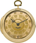 Timepieces:Pocket (pre 1900) , Samuel Berry London Early Gold Cased Pocket Watch, circa 1731. ...