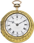Timepieces:Pocket (pre 1900) , Windmills London Fine Quarter Repeating Pocket Watch, circa 1725. ...