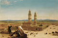 Paintings, Ascribed to ALBERTO PASINI (Italian, 1826-1899). Oriental Landscape with Mosque. Oil on canvas. 24 x 36 inches (61.0 x 9...
