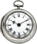 Timepieces:Pocket (pre 1900) , James Mew London Early Verge Fusee, circa 1760. ...