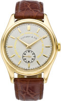 Timepieces:Wristwatch, Patek Philippe Men's Ref. 2526 for Tiffany with Rare Masonic Dial,circa 1955. ...