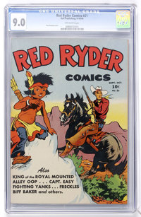 Red Ryder Comics #21 (Dell, 1944) CGC VF/NM 9.0 Off-white pages