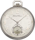 Timepieces:Pocket (post 1900), Dietrich Gruen Men's Diamond, Enamel, Platinum Pocket Watch, circa 1920. ...